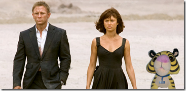 Schnubbs with Daniel Craig and Olga Kurylenko